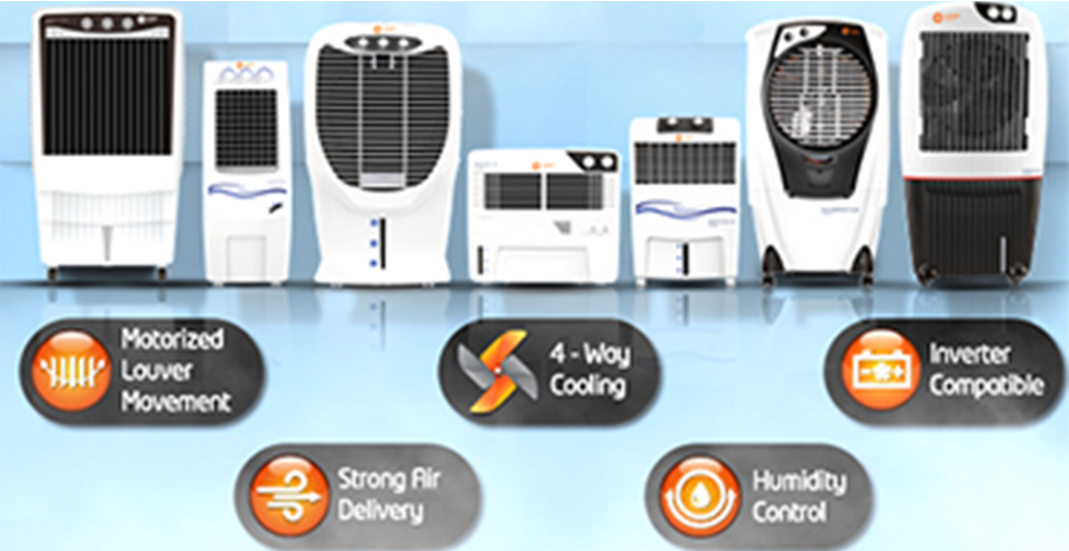 Bring home Orient Electric air coolers to experience cooling at its best