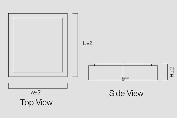 Edge Surface Square Panel