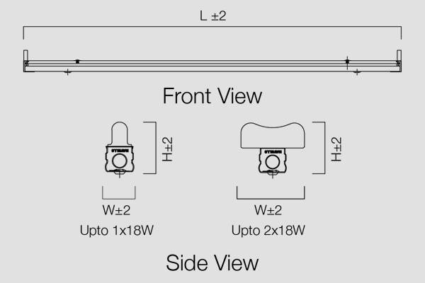 LED Batten-1/2x18 LED