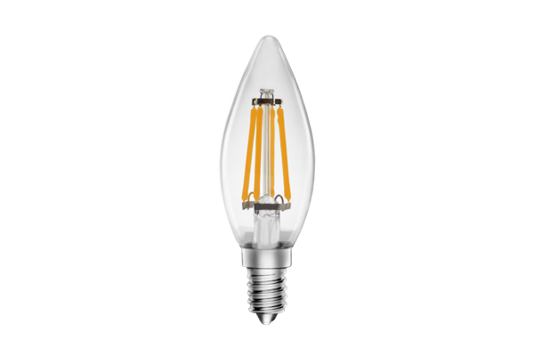 LED Clear Candle Lamp 4.5W