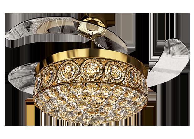 Eleganza EZ-02 Luxury Chandelier Fan