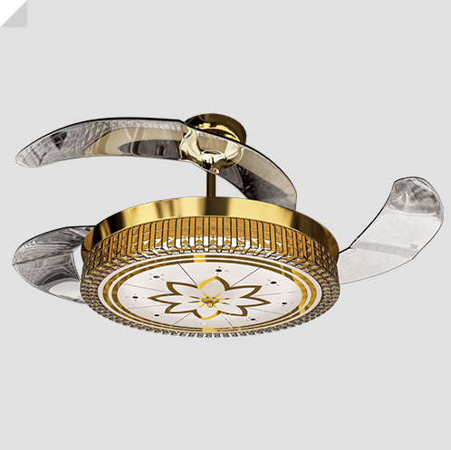 Eleganza EZ-01 luxury chandelier fan
