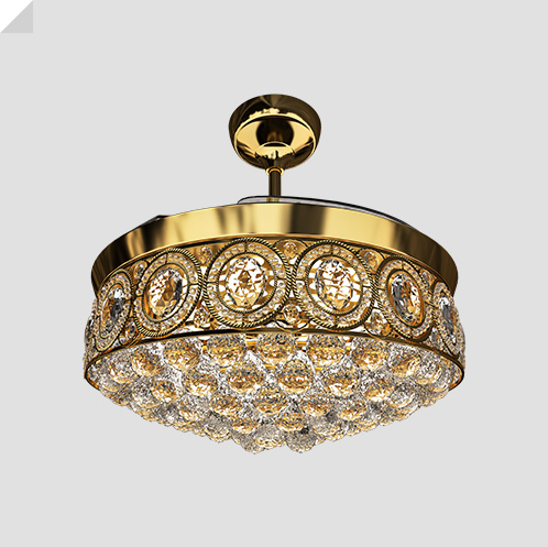 Eleganza EZ-02 luxury chandelier fan