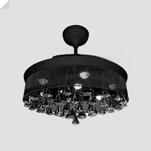 Eleganza EZ-03 luxury chandelier fan