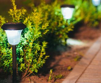 Emergency LED Bulb in Park