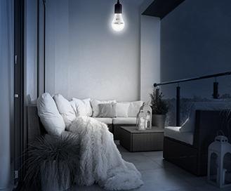 Emergency LED Bulb in Balcony