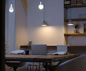 Emergency LED Bulb in Study Room
