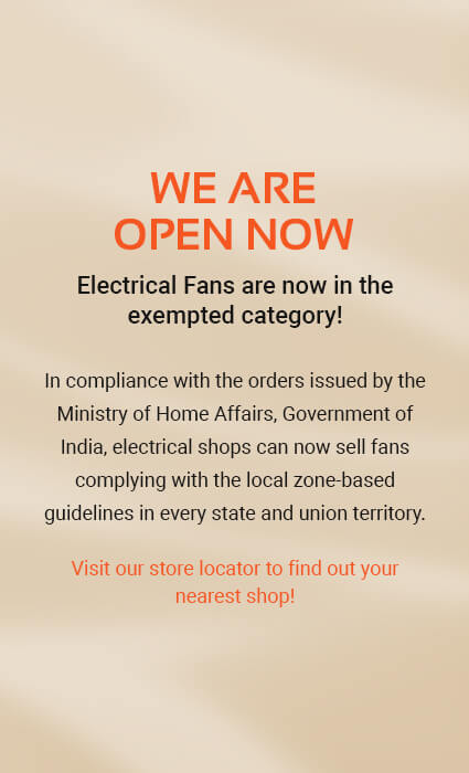 Orient Electric New Stores